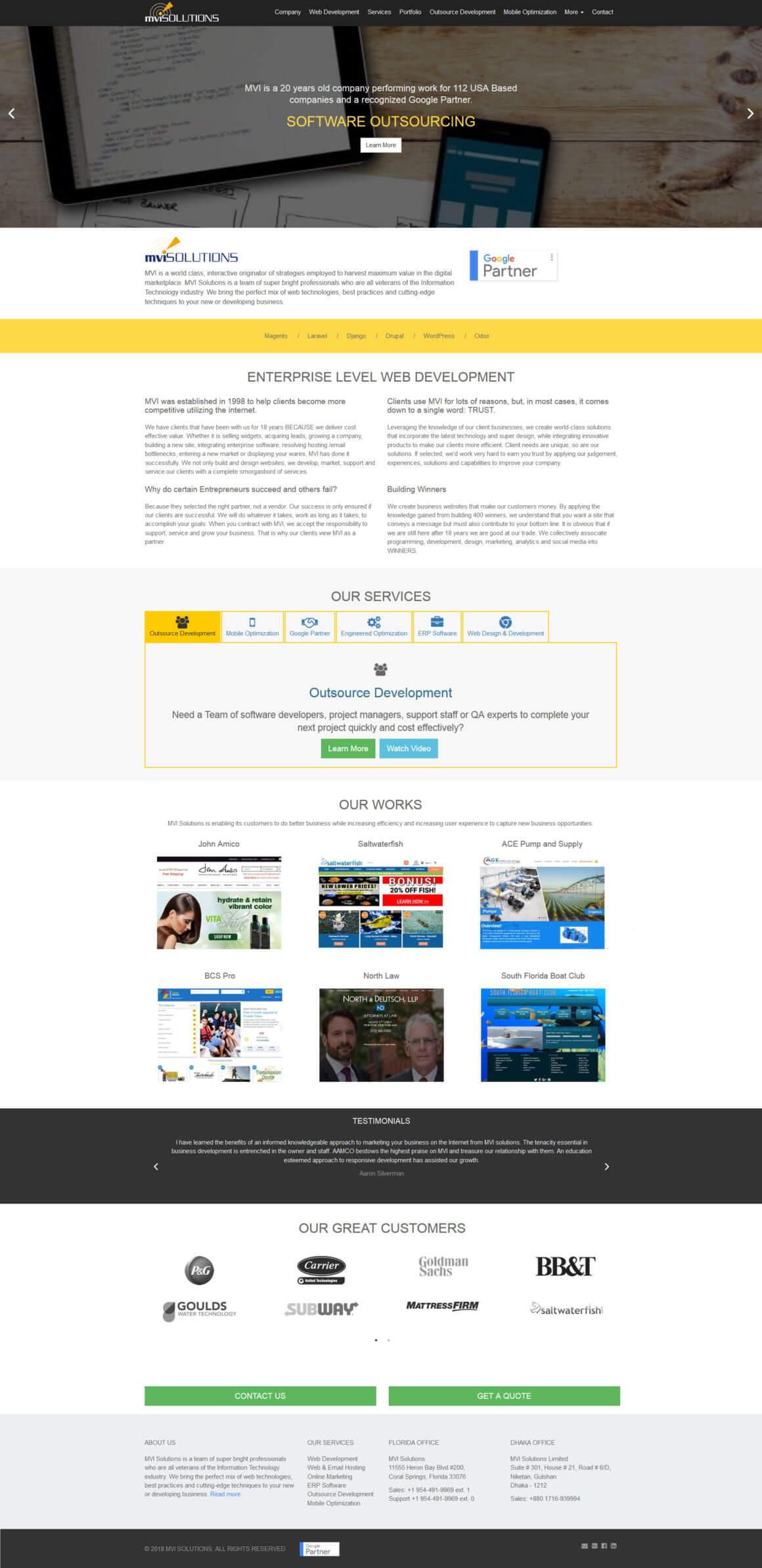 Сайт IT компании MVIsolutions